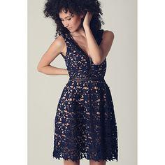 Blue Eyelash Lace Mini Dress LAVELIQ