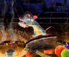 Living Lines Library: Ratatouille (2007) - Concept Art, By Robert Kondo