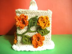 Flower tissue cover Kleenex box cover Square tissue by Solviashop #pottiteam