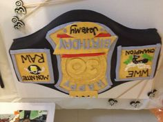 Baltimore Cakery's 30th bday creation! Wrestling belt idea