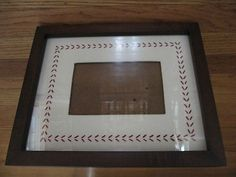 BASEBALL FRAME & PHOTO MAT FOR 4X6 PICTURE