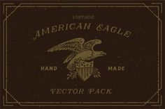 Check out Engraving Vintage American Eagle by Decade Type Foundry on Creative Market