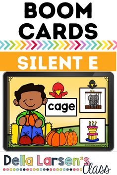 Kindergarten October Boom Cards. October literacy center . Practice reading CVCE words with this fun fall deck. Bring digital learning to your word work and literacy centers this fall. Give your kindergarten beginning readers practice reading cvce words Common Core CCSS.ELA-LITERACY.RF.K.2.D Literacy Stations, Literacy Skills, Literacy Centers, Kindergarten Readiness, Kindergarten Classroom, Interactive Learning, Fun Learning, Ccss Ela, Cvce Words