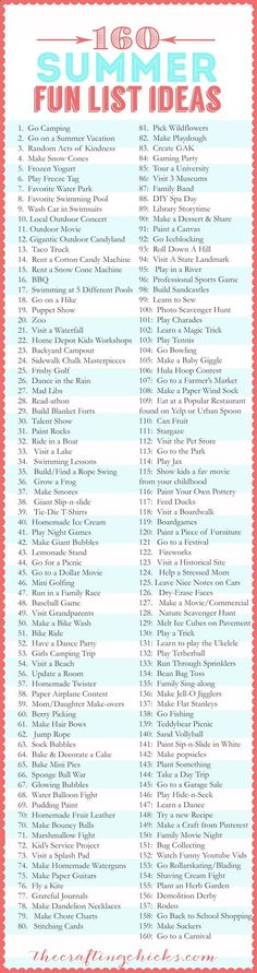 160 Summer Fun List IDEAS | sublimevacation.comsublimevacation.com