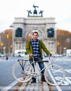 BIKENYC portrait Doug: Grand Army Plaza. Photo by Dmitry Gudkov @bikenyc