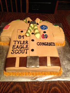 Eagle scout cake! love it