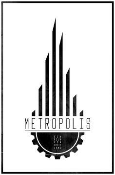 Metropolis - minimalist poster by Casimir Fornalski