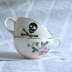 Rose Pirate TeaCup Set by geekdetails on Etsy, $25.00
