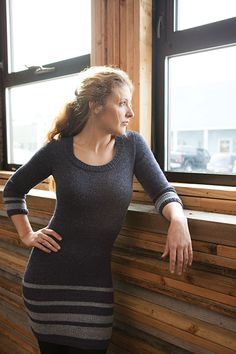 Addison Dress Knitting Pattern - from the Knit Picks Reclaimed collection.