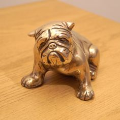 Brass French Bulldog  Vintage Dog Sculpture Statue  by UKAmobile