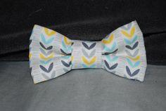 Boy's Bow Tie grey/yellow/blue by finneousandbean on Etsy, $16.00