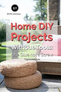 DIY has become the new drug of choice for homeowners everywhere. Now, instead of shopping for decorative items to fill the house with, people are building their own. There are vast communities of people both on and offline who are addicted to this new wave of ideas. The most complicated part aboutdoing your own projects for the houseis that usually power tools are needed. But not always! Here before you is a creative list of #home #DIY projects without tools. #homedecor #homeimprovement