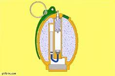 Cómo explota una granada