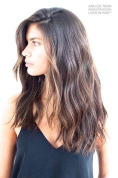 Long Layered Haircut Dark Brown