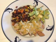 Sausages with Green Chile Corn Beer Blanc, Southwestern Hash, and Avocado Salad with Heart of Palm