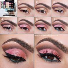 .@Maryam Afshari Maquillage | My Summer Eyes Pictorial-Tutorial is here!! For technique, check ... | Webstagram - the best Instagram viewer