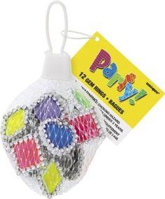 Gem Plastic Rings Party Bag Fillers, Pack of 12 | eBay