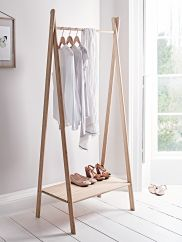 Image result for wooden clothes rail