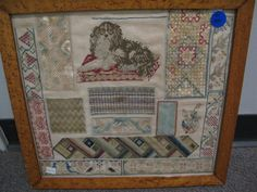 A 19th Century ENGLISH WoolWork Sampler