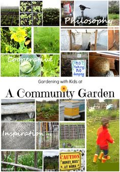Garding with Kids at A Community Garden: A Garden Cooperative with Kids