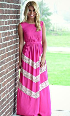 Jamie Lee - All About Lace Maxi | Fuchsia , $52.00 (http://www.jamieleeboutique.com/all-about-lace-maxi-fuchsia/)