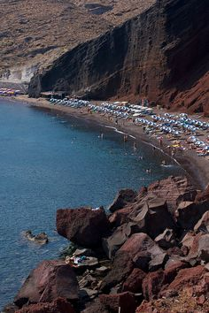 The Red beach, Santorini, Greece by Natalia Romay, via Flickr.
