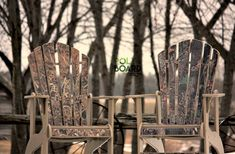 Another great graphics idea!  Who doesn\'t love a little camouflage!  #mancave #camochairs #adirondackchairs