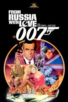 From Russia with Love poster, t-shirt, mouse pad James Bond Movie Posters, Action Movie Poster, Old Movie Posters, Classic Movie Posters, James Bond Movies, Love Posters, Old Movies, Vintage Movies, Best Bond Girls