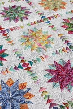 Handmade Quilt--I love star and compass designs