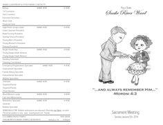 A Mormon blog. Free, downloadable LDS Sacrament Program