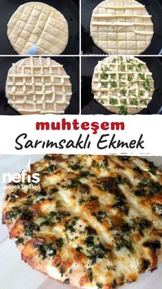 Discover recipes, home ideas, style inspiration and other ideas to try. Pizza Recipe Pillsbury, Turkish Kitchen, Wie Macht Man, Tasty, Yummy Food, Breakfast Pizza, Middle Eastern Recipes, Easy Snacks, Bread Baking