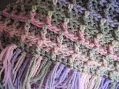Handmade crocheted waffle stitch afghan by CrochetByVicky on Etsy, $100.00