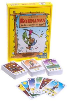 Bohnanza - The Bean Farming card game! This is one of my most favourite games! Trade beans and collect points in this silly game - but beware, things can get pretty heated makin' deals and trading beans! Hobbies For Kids, Games For Kids, Games To Play, Cheap Hobbies, Fun Board Games, Group Games, Rio Grande, Bean Games, Set Card Game