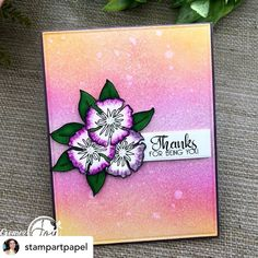 @stampartpapel I love the colors of this card that I made with one of the images From Spring Floral Basket set from @Joyclairstamps 💐💐 The background is jus Harmony Inks from @spectrumnoir and I am adoring them. • • #clearstamps #joyclairstamps #joyclairdesigns #crafts #scrap #papercrafts #papercrafting #papercrafter #handmade #handmadecard #handmadecards #card #cards #cardmaking #cardmakingideas #cardmakinghobby #greetingcard #greetingcards #cardideas #cardmaker #makingcards #diycards… Creative Comments, Different Types Of Flowers, Card Maker, Digital Stamps, Clear Stamps, Diy Cards, Greeting Cards, Paper Crafts, Joy