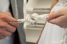Tying the knot, wedding ring shot.
