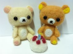 Rilakkuma and Korilakkuma ♥ Happy Birthday to VanB @ 2013.02.26 ♥ Felt Wool Doll