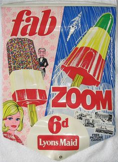 Fab and Zoom ice lollies. We used them as lipstick.