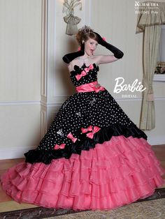 Barbie Bridal in pink and black