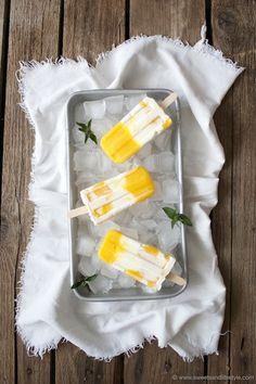 Mango-Jogurt Eis am Stiel