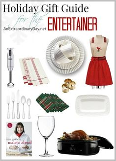 Christmas is just 24 days away. Are you feeling a little bit stressed? Today I'm here to help with my Holiday Gift Guide for the Entertainer and YOU!  Everything that's important for hosting a great party, aside from the food and fellowship, is here!