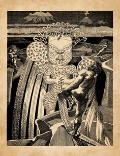 Maori Legends Maui's Fight With the Sun 1907 by BiblioGraphique