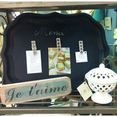Chalkboard Menu Tray available at Dixie Rose Interiors.