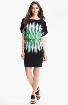 Maggy London Print Blouson Jersey Dress available at #Nordstrom