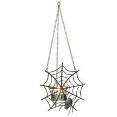 Hanging Spiderweb Votive Holder - $15 - Retiring 12/18/13 - www.partylite.biz/kfordcandles - #partylite #candles #spooky #halloween #spiders #spiderweb #homedecor