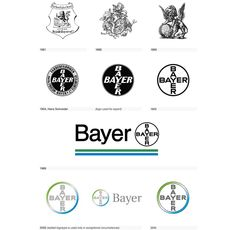 The Visual Evolution of the Bayer Logo (from the book Logo Life: Life Histories of 100 Famous Logos) Design Logo, Web Design, Identity Design, Best Design Books, Book Design, History Quotes, History Facts, Famous Logos, History Classroom