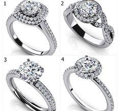 Todas las alianzas con diamantes son hermosas, sin embargo hay algunas que son más especiales que otras, cuál es el modelo que te gusta?