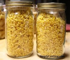 Options for Preserving corn at home