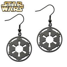 2016 New Star Wars Black Gun plated Imperial Drop Earrings for women Movie Jewelry Wholesale