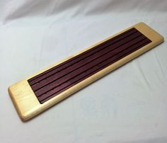 Large Baguette Board with removable crumb catcher by HartmanWoodworks on Etsy