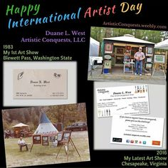 "Happy International Artist Day! 🎨  I have had an amazing journey since embarking on my ""Artistic Conquest"" in 1983!  I have been blessed with the opportunities to take my artwork internationally and use it in amazing ways!"